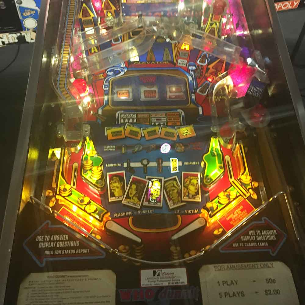 who dunnit pinball for sale